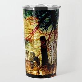 Darkness Tree - Double Exposure Travel Mug