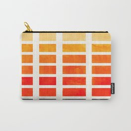 Orange Geometric Pattern Square Matrix Watercolor Art With Black Accent Carry-All Pouch