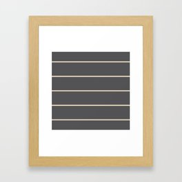 Gray with beige lines Framed Art Print