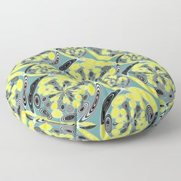 Black and yellow pattern Floor Pillow