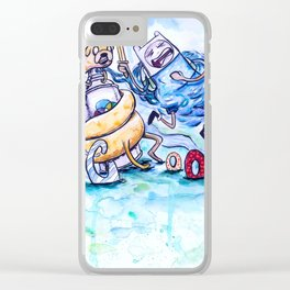 Finn, Jake and the Crook Clear iPhone Case