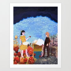 The Two Girls Art Print