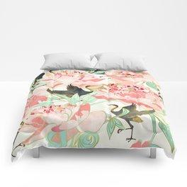 Floral Cranes Comforters
