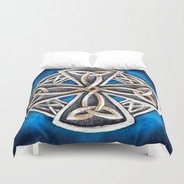 Celtic Cross Blue Duvet Cover