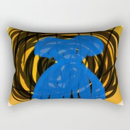 Little Blue Dress Rectangular Pillow