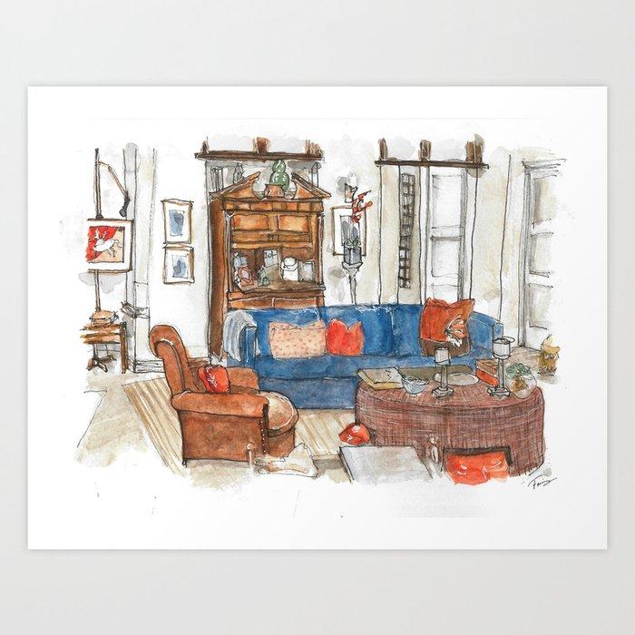 Will and Grace - Will Truman's Apartment Kunstdrucke