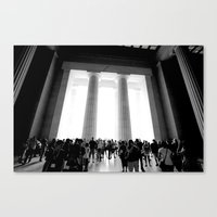 lincoln Canvas Prints featuring Lincoln by David McLeod