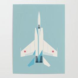MiG-25 Foxbat Interceptor Jet Aircraft - Sky Poster