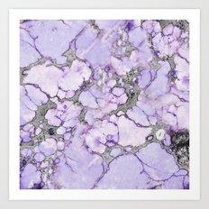 Lavender Marble Art Print