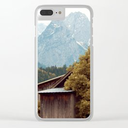 Cabin in the Alps Clear iPhone Case