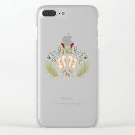 autumn squirrels Clear iPhone Case