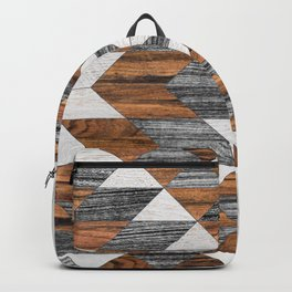 Urban Tribal Pattern No.12 - Aztec - Wood Backpack