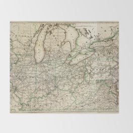 Map of the Pennsylvania Railroad (1871) Throw Blanket