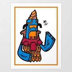 Ice Cream Czar Art Print