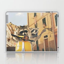 Raccoons on the road trip Laptop & iPad Skin