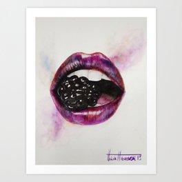 Berry Lips Art Print