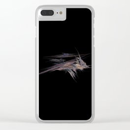 3D Fractal Crystals Clear iPhone Case