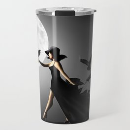 The woman with the ravens Travel Mug
