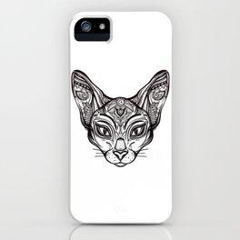 Tribal Cat iPhone Case