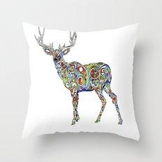 Third Eye Deer Throw Pillow