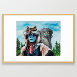 Wolf and Eagle Framed Art Print