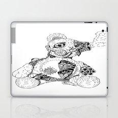 Steampunk Steam punk Teddy Bear Original pen and ink design guns gears gas mask mechanical heart Laptop & iPad Skin