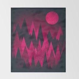 Dark Triangles (Peak Woods) Abstract Grunge Mountains Design (red/black) Throw Blanket
