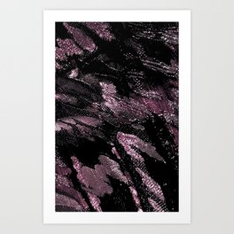 Midnight Cabernet Lace Art Print