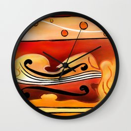 Vioselinna - violin backed beauty Wall Clock