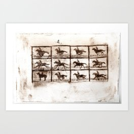 eadweard muybridge Art Print