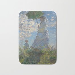 Woman with a Parasol - Madame Monet and Her Son Bath Mat