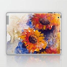 Watercolor Sunflowers Laptop & iPad Skin