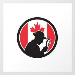 Canadian Private Investigator Canada Flag Icon Art Print