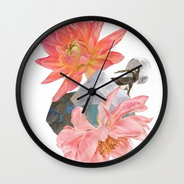 Gazelle and Flowers Wall Clock