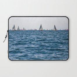 Sailing boats at Barcolana regata Laptop Sleeve