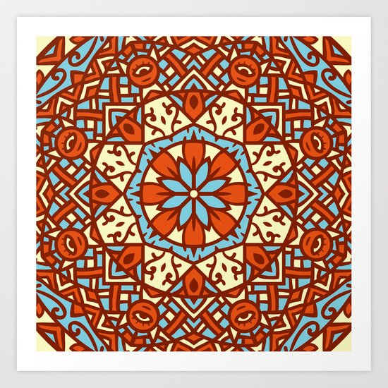 Abstract Mandala Flower Decoration 30 Art Print