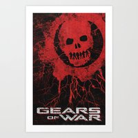 gears of war Art Prints featuring Gears Of War by Bill Pyle