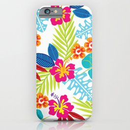 Colorful Tropical Arrangement iPhone Case