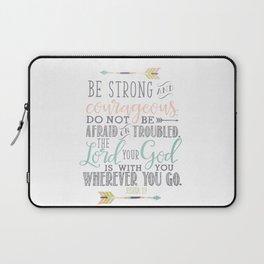 Joshua 1:9 Bible Verse Laptop Sleeve