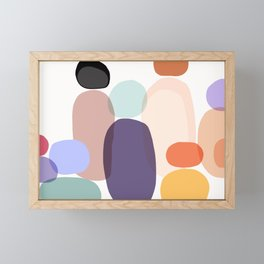 Family Portrait / Contemporary Abstract Shapes Framed Mini Art Print
