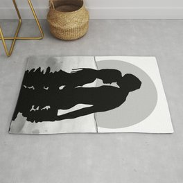 Lovers Black and White Rug