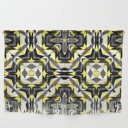 black yellow gray and white geometric Wall Hanging