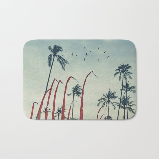 Coconut - Palms and Flags Bath Mat