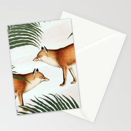 Red Fox Pair #society6 #buyart #decor Stationery Cards