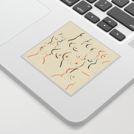 Breasts in Cream Sticker