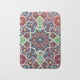 V16 Special Colored Traditional Moroccan Design. Bath Mat