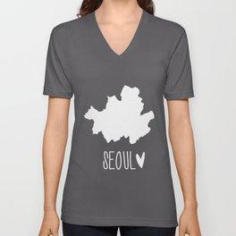 Seoul (Map) Unisex V-Neck