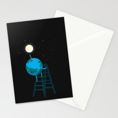 Reach the moon Stationery Cards