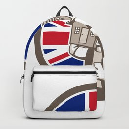 British House Removal Union Jack Flag Icon Backpack