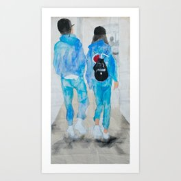 Eleanor and Louis at LAX Art Print